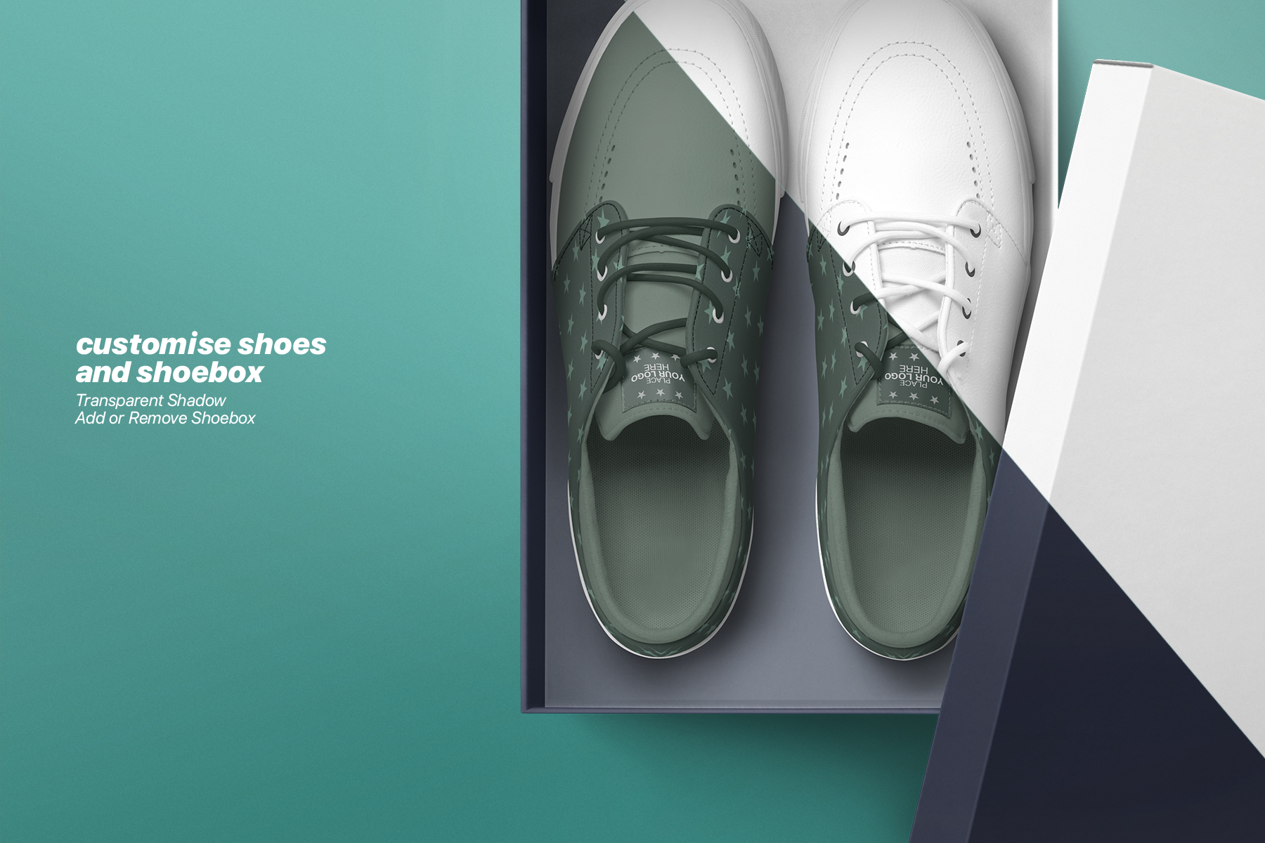 Realistic Sneaker and Box Mockups Pack
