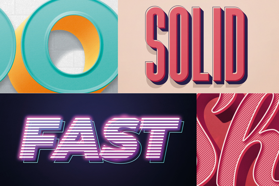 Retro Photoshop Text-Effects Pack 2