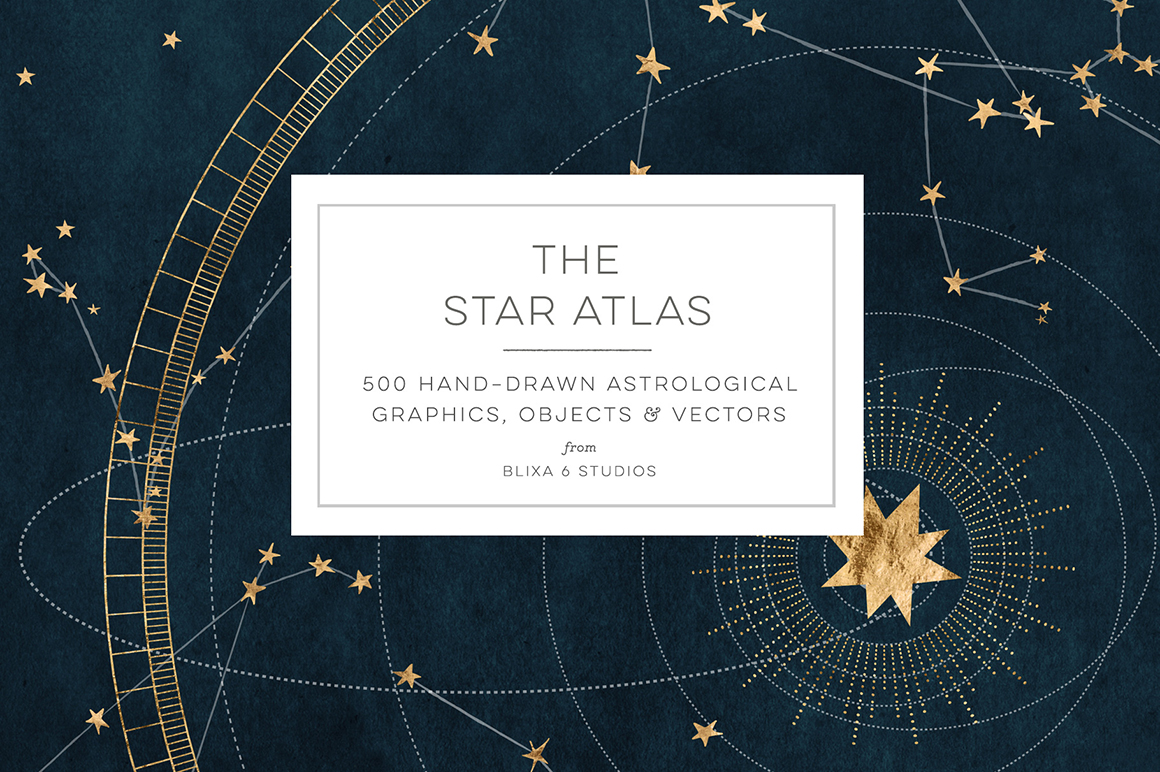 The Star Atlas: Golden Astrology Graphics Set
