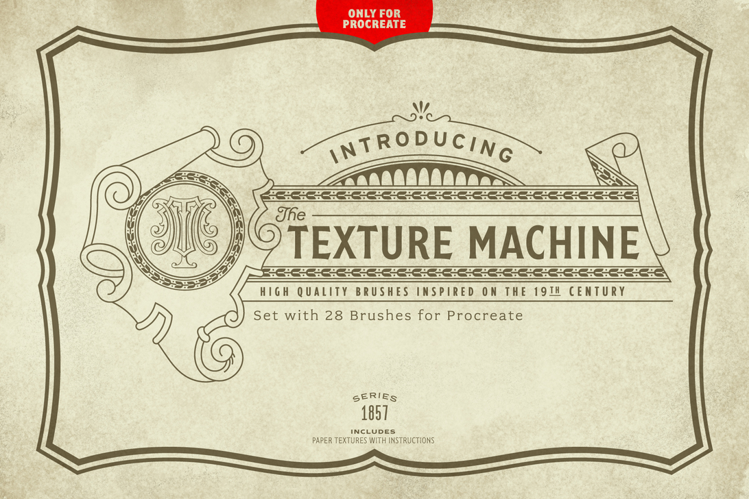 The Texture Machine Brush Set for Procreate