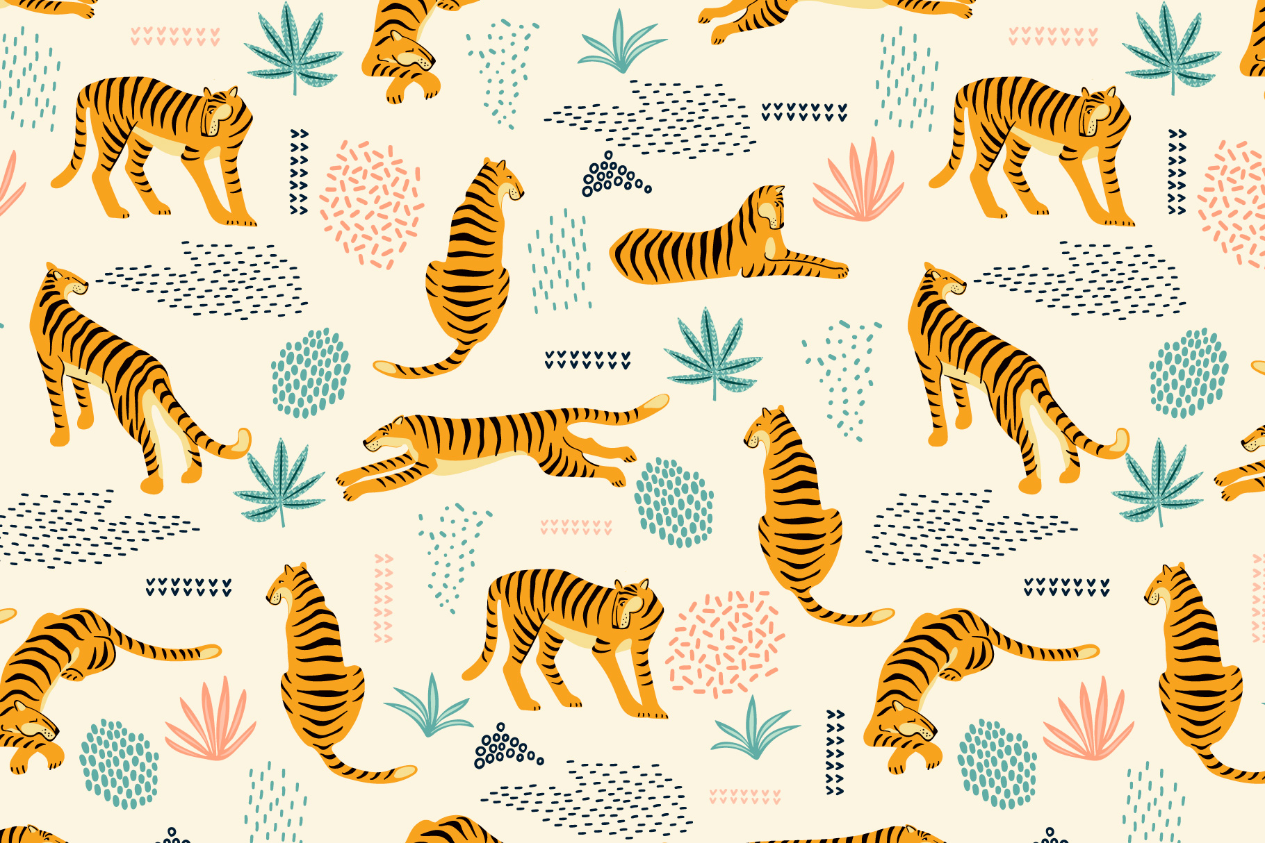 Tiger Collection. Patterns & Elements