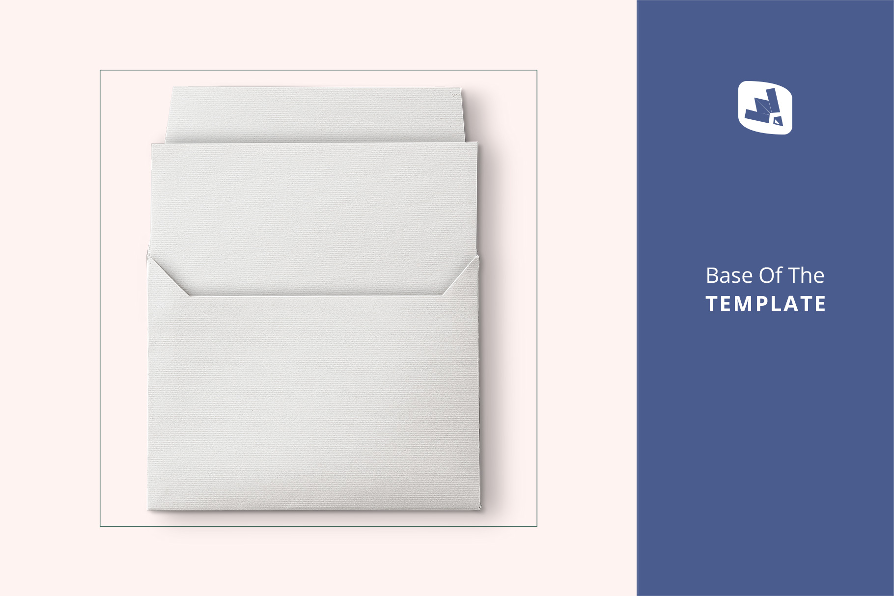 Top View Open Envelope With Card Mockup