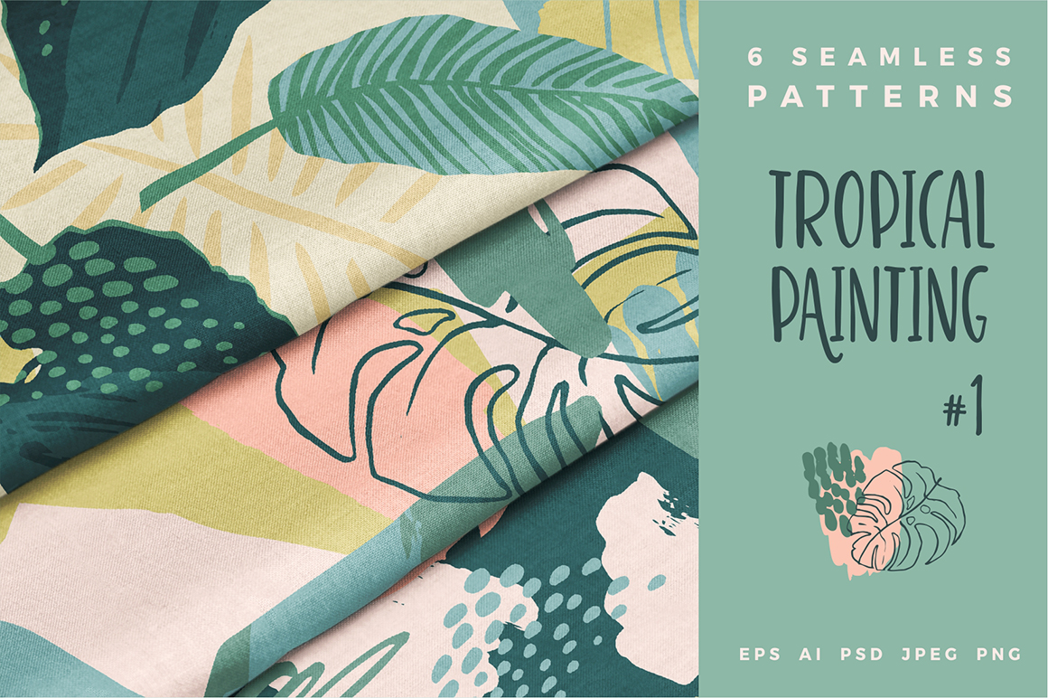 Tropical Painting No.1 - Seamless Patterns