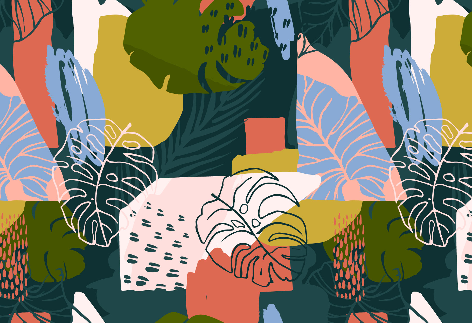 Tropical Painting No.2 - Seamless Patterns
