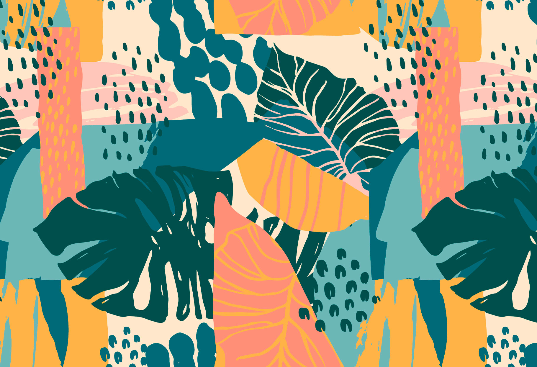 Tropical Painting No.3 - Seamless Patterns