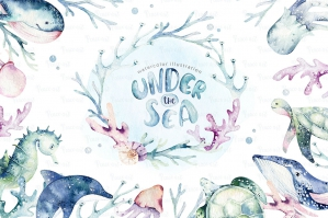 Under The Sea Watercolor Set - Undersea World