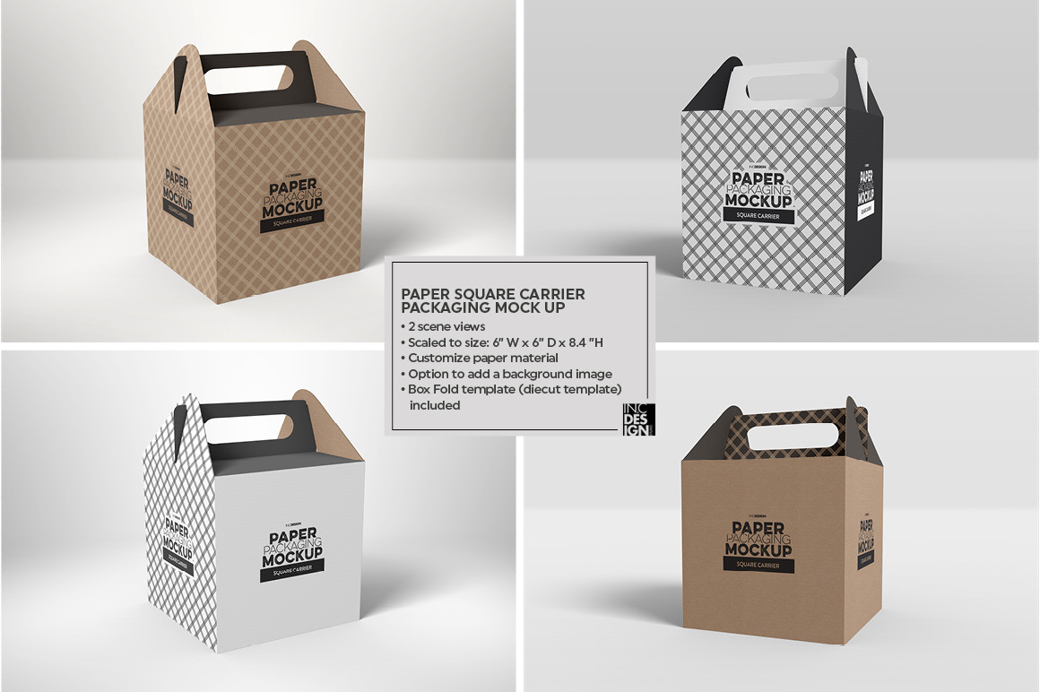 Volume 01: Paper Food Retail Packaging Mockups