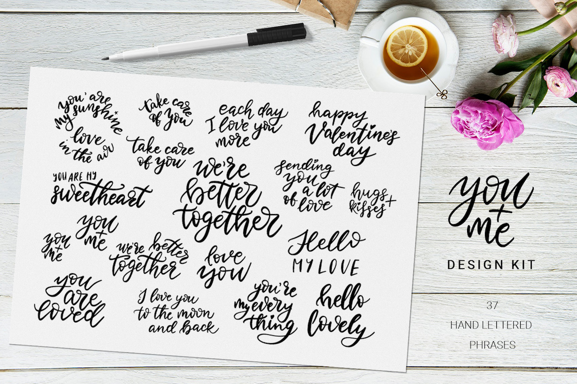 You + Me: Hand Drawn Design Kit for Love