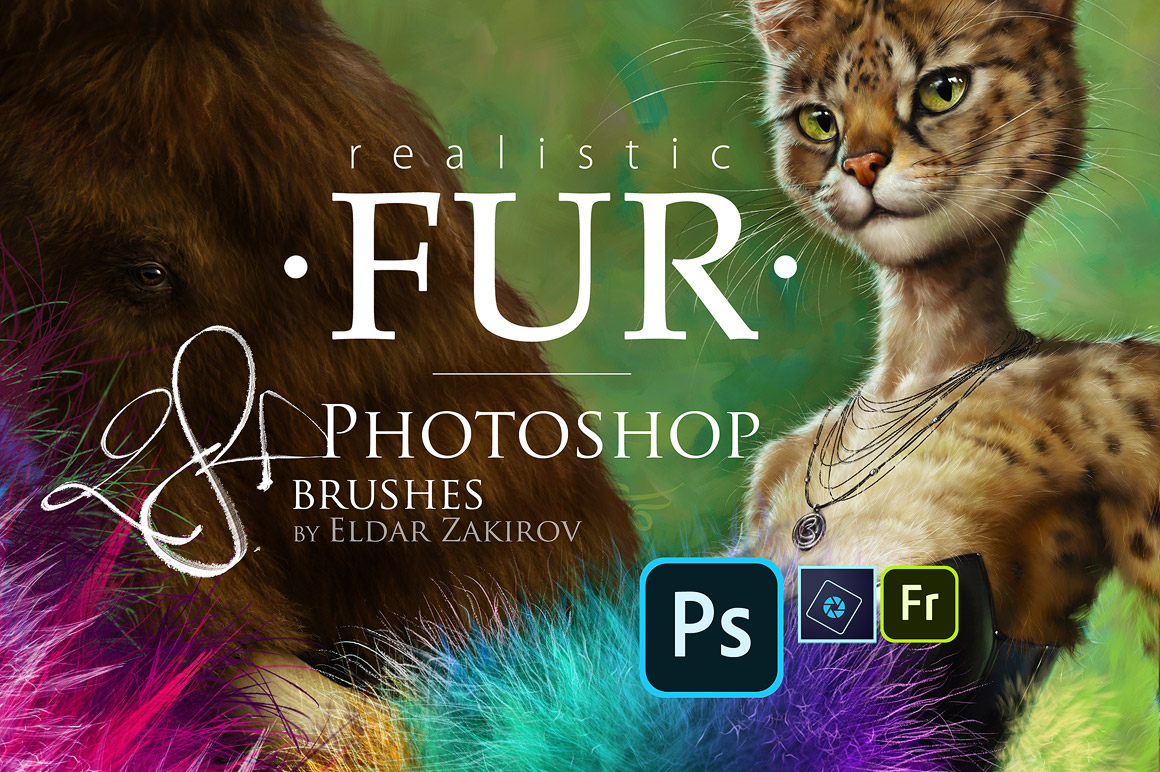 28 Realistic Fur Brushes for Adobe Photoshop