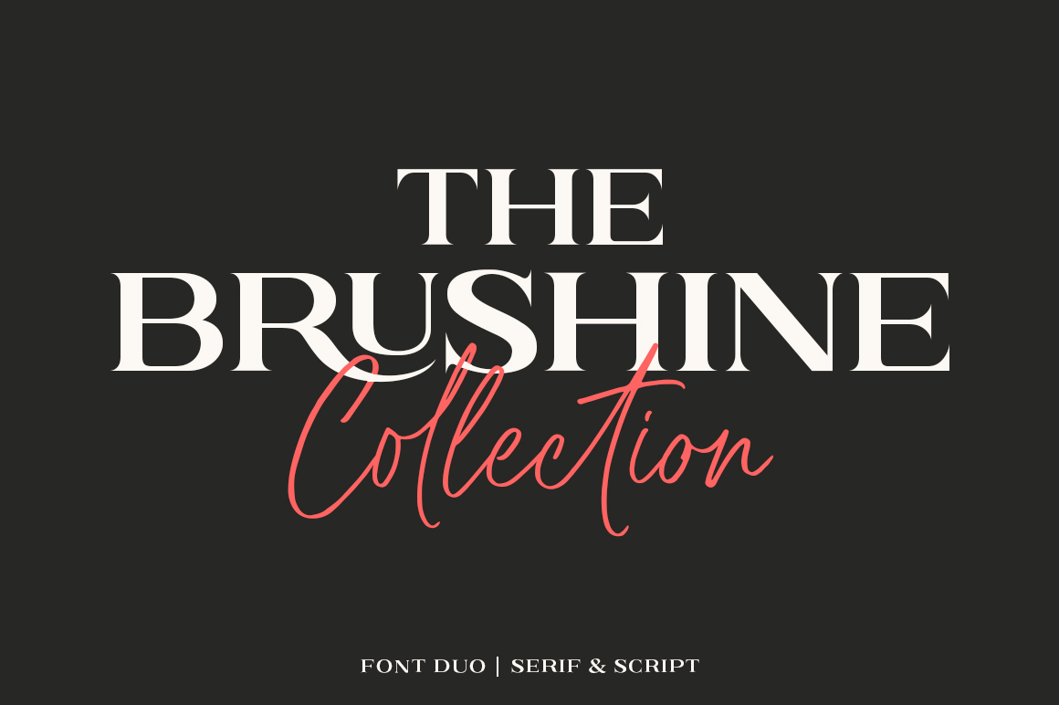Brushine Collection Font Duo