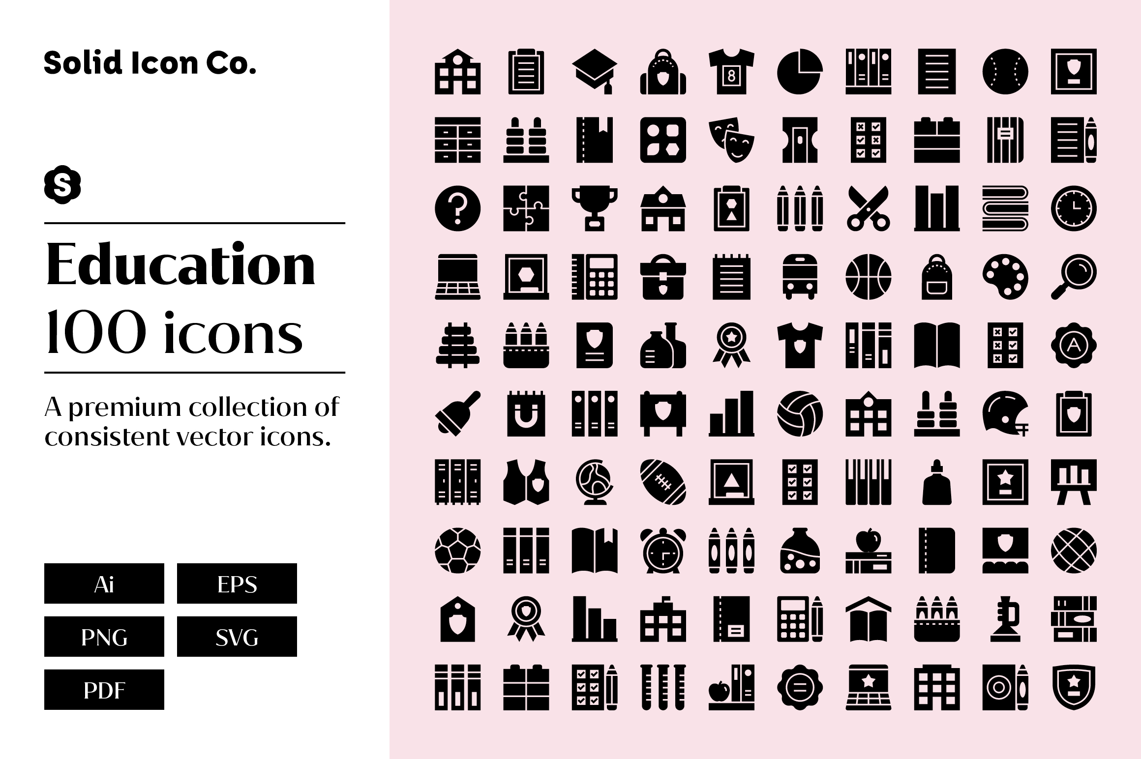100 Education Icons