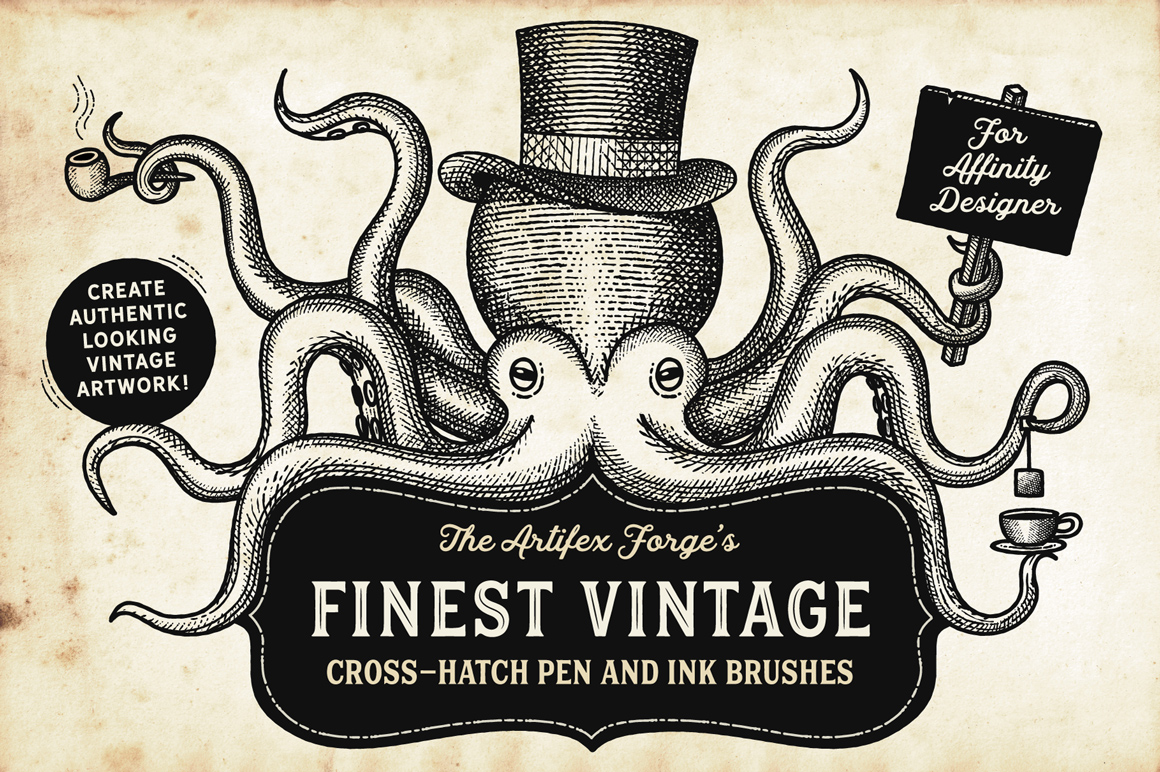 8 Ink Affinity Designer Brushes for a Realistic Hand-Drawn Effect