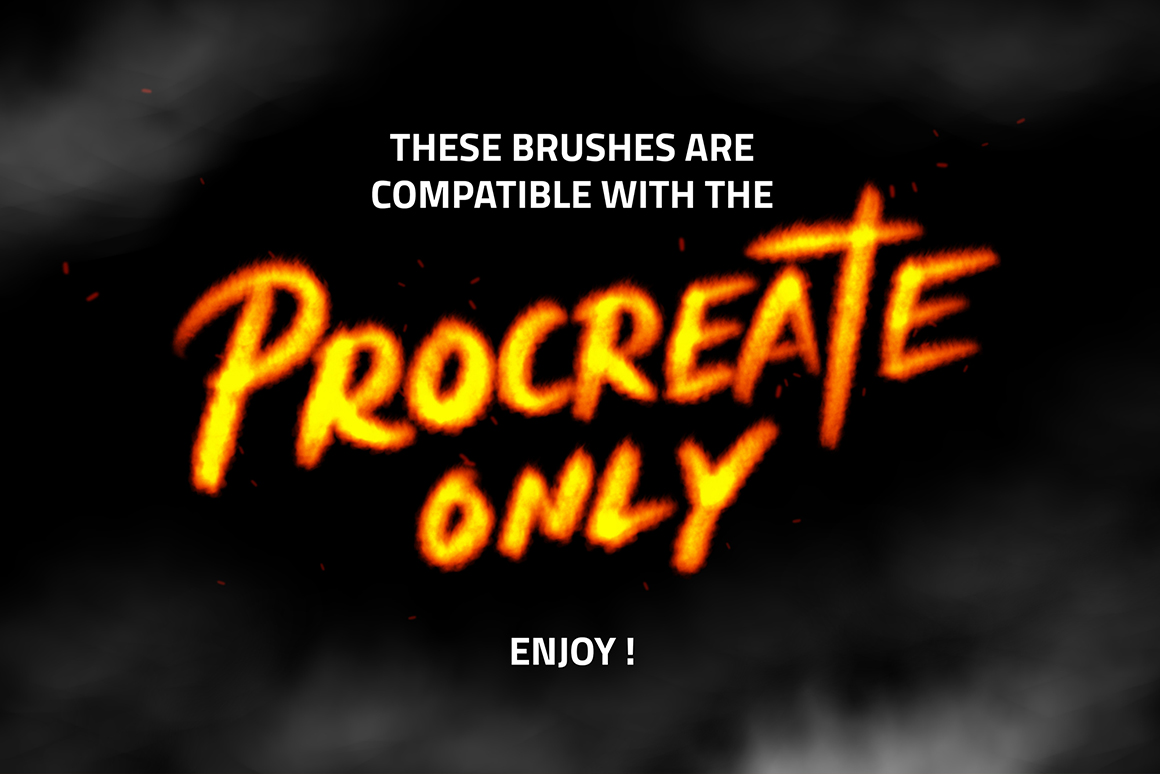 Procreate Fire Brushes