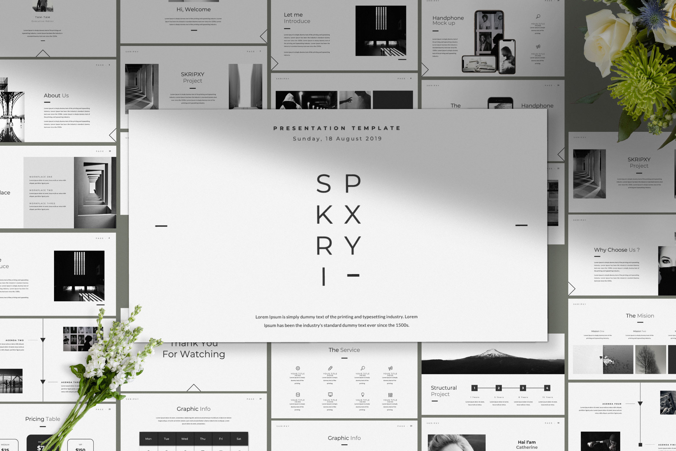SKRIPXY Clean Presentation Template