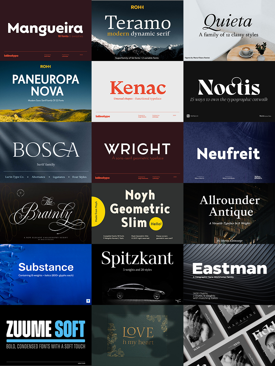 The Type Designer's Luxury Font Library