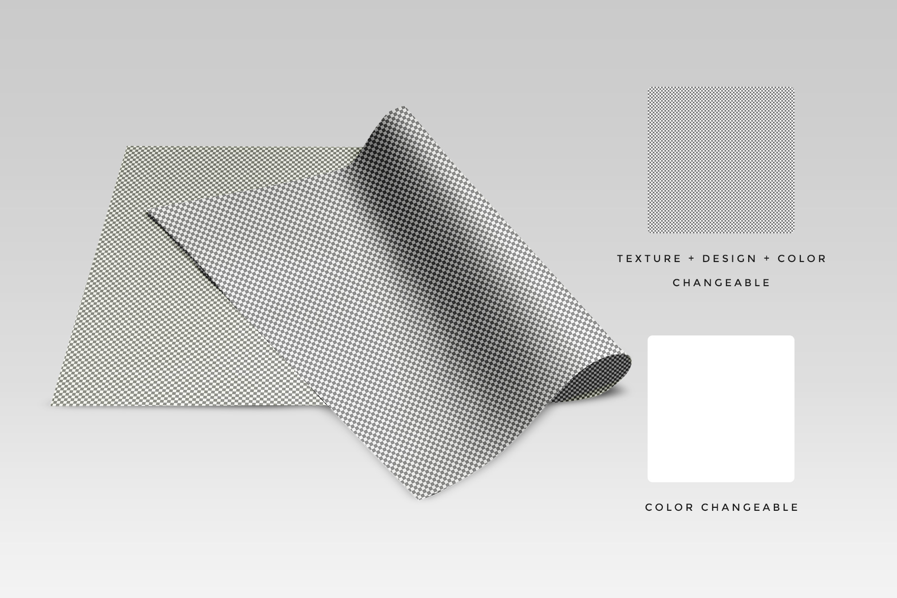 Top View Folded Wrapping Paper Mockup