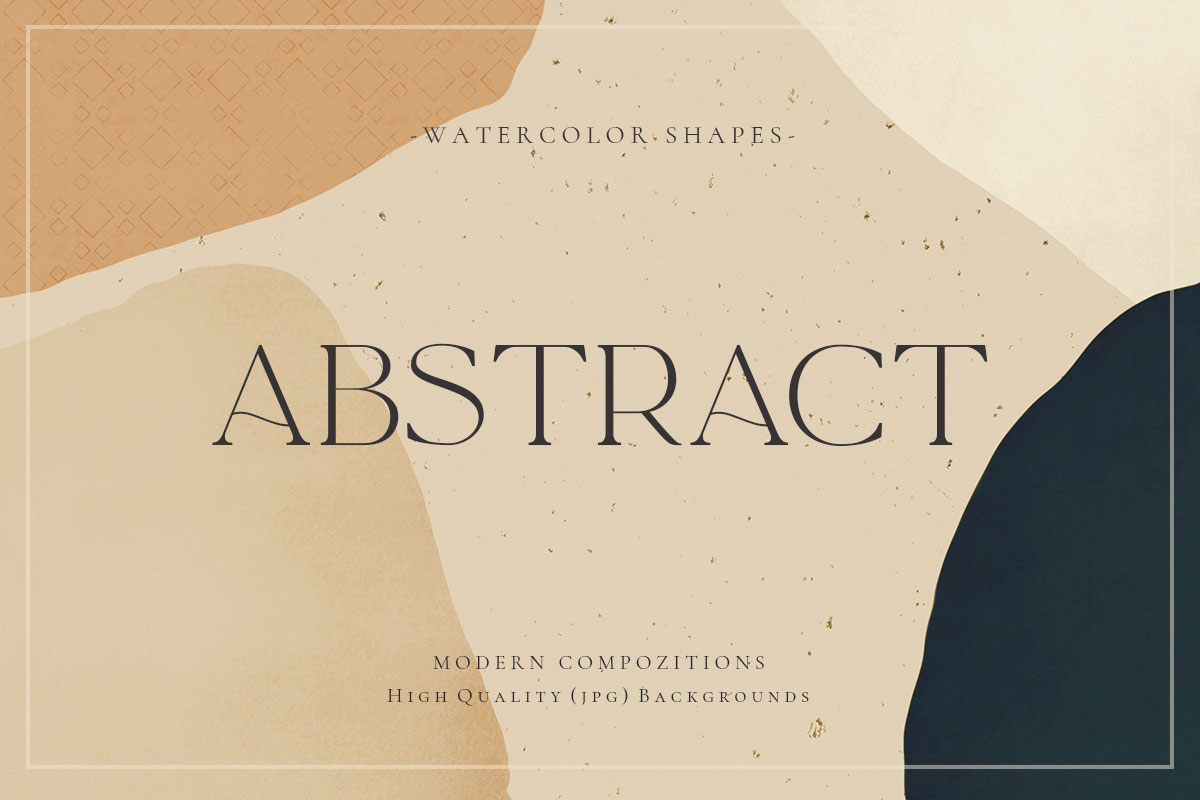 Watercolor Geometric Abstract Shapes 2
