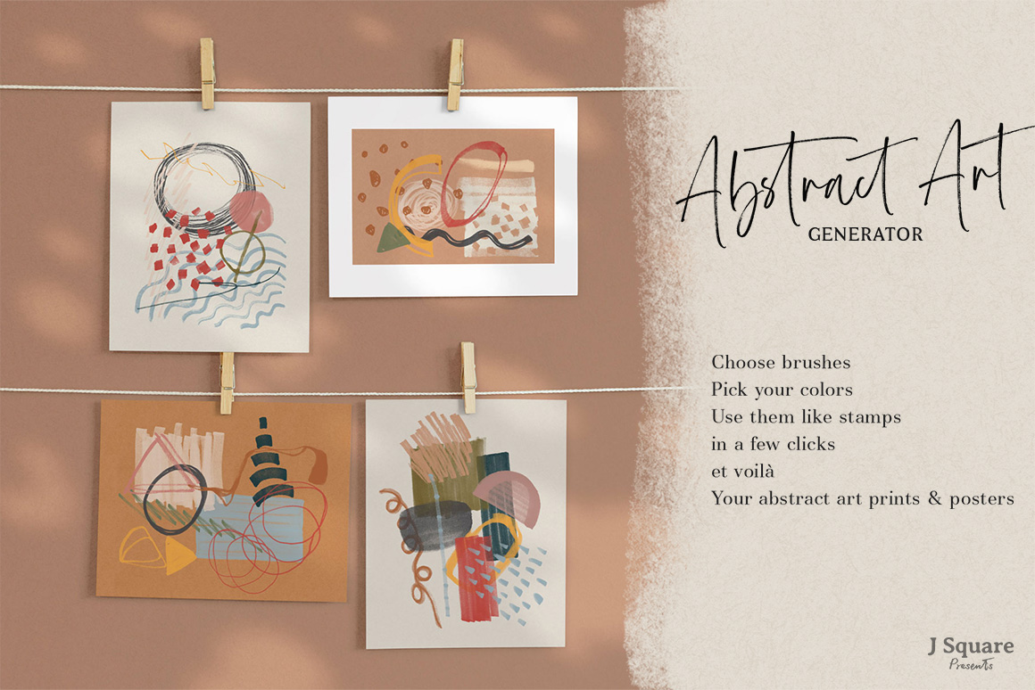 Abstract Art Generator - .PSD Brushes & More