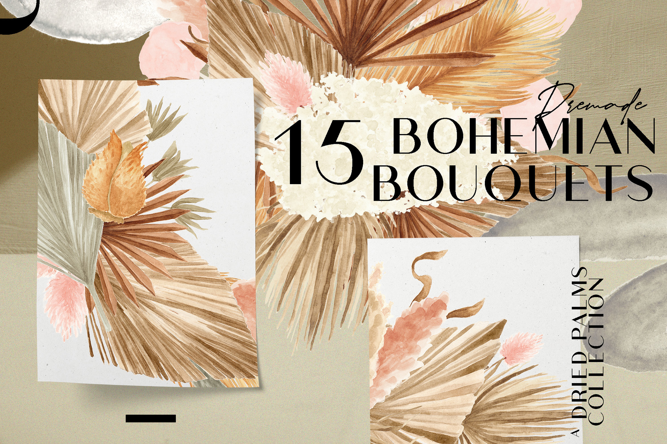 Bohemian Dried Foliage Illustration