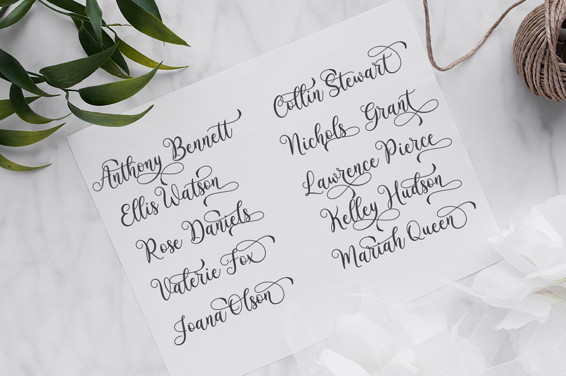Monasha Beauty Calligraphy