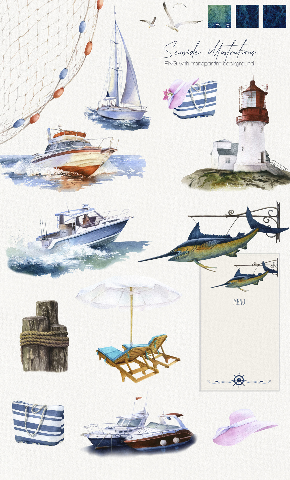 Seaside Watercolor Collection