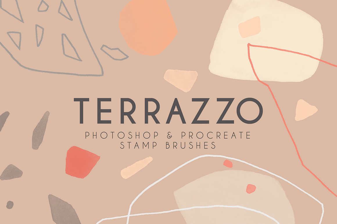 Terrazzo - Modern Photoshop and Procreate Brushes