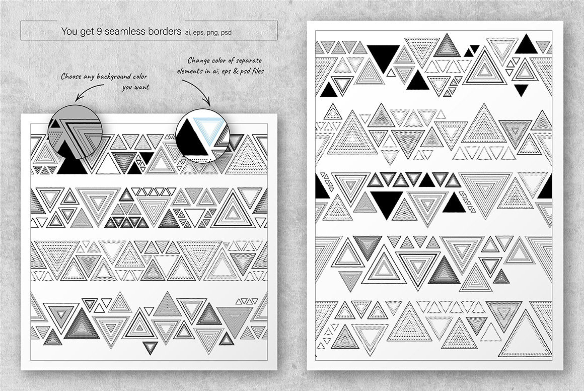 Triangles: Patterns & Borders