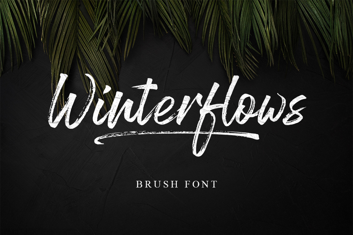 Winterflows Brush Font