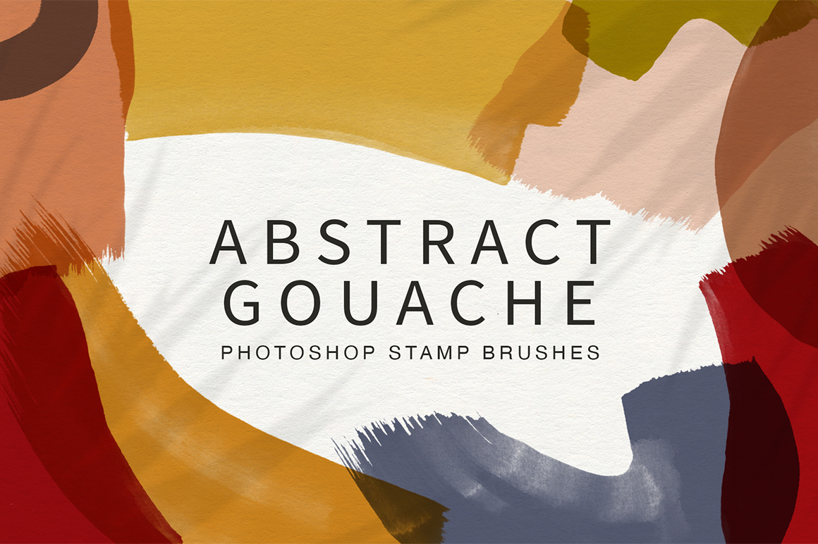 Abstract Gouache Photoshop Stamp Brushes