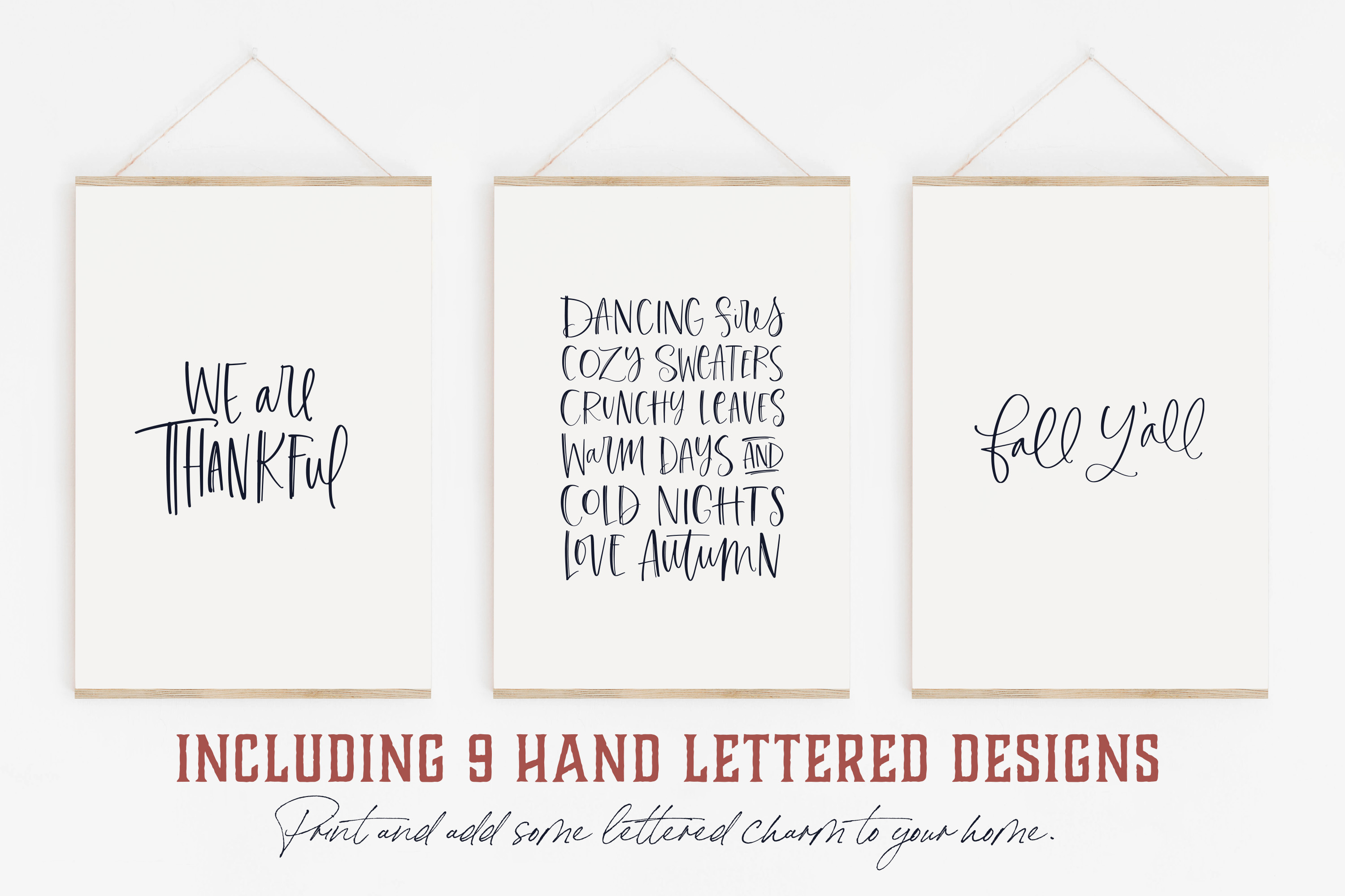 Autumn Harvest Lettering & Elements