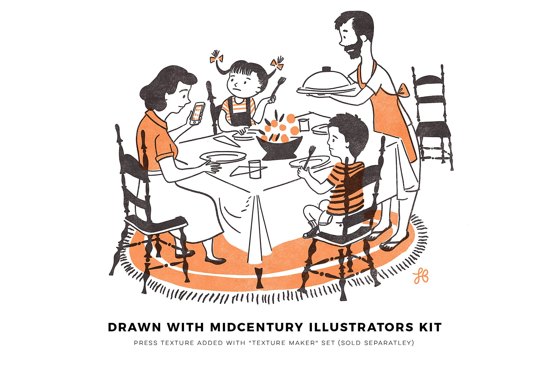 Midcentury Illustrator's Kit