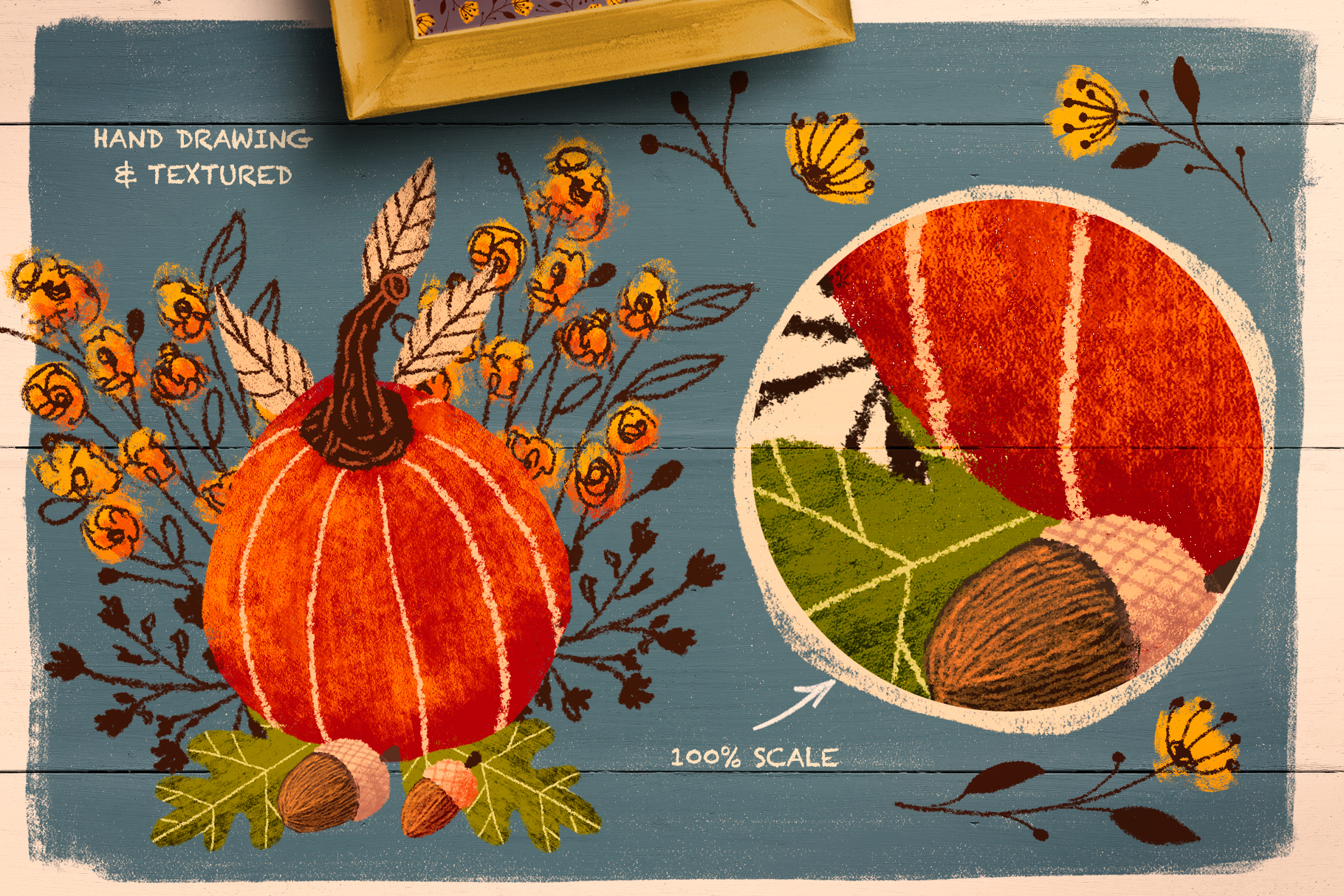 Pencil Fall Graphic Kit
