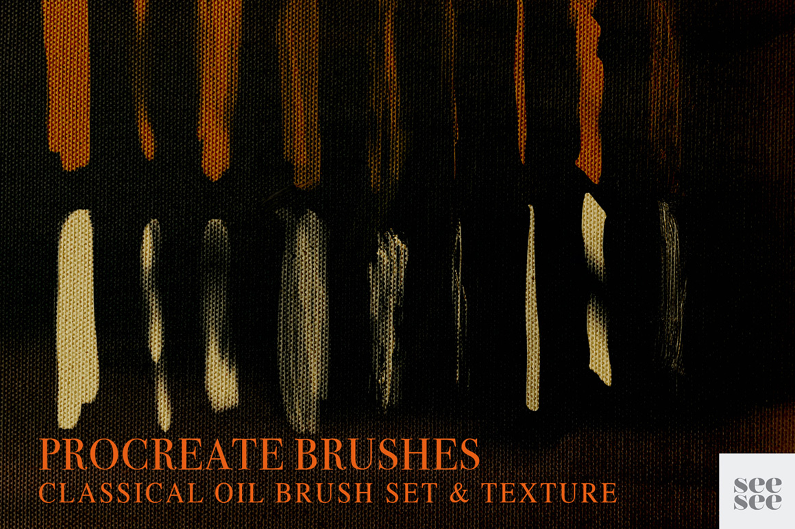 Procreate Classic Oil Brush Set + Texture
