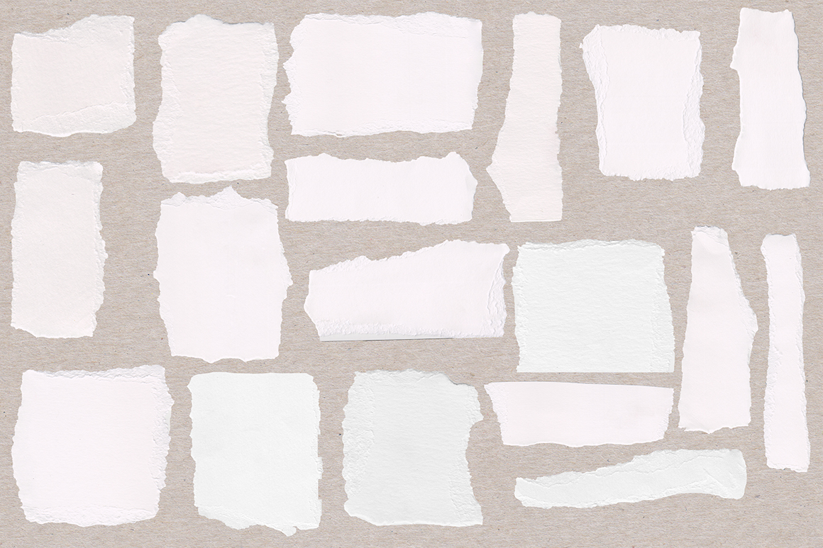 Ripped Watercolor Paper Texture Pack
