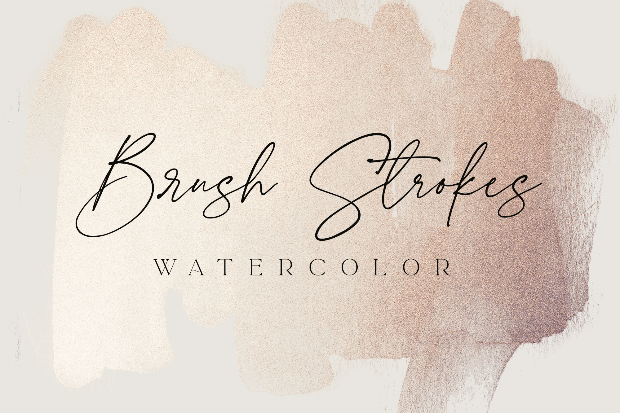 Rose Gold Watercolour Brush Strokes
