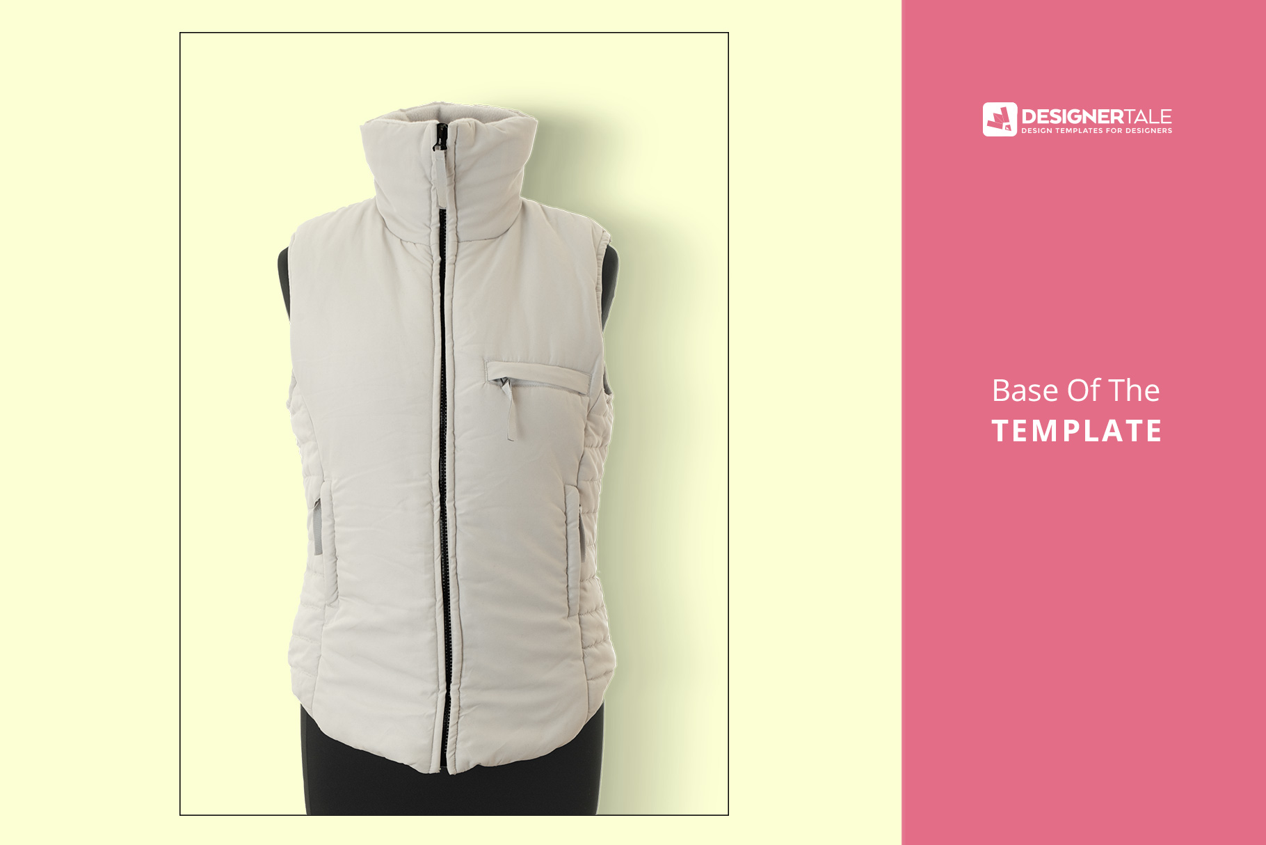 Women's Sleeveless Winter Jacket Mockup