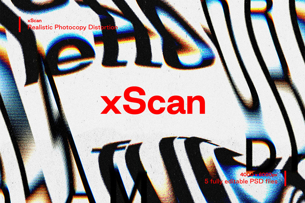 xScan - Photocopy Distortion Effect