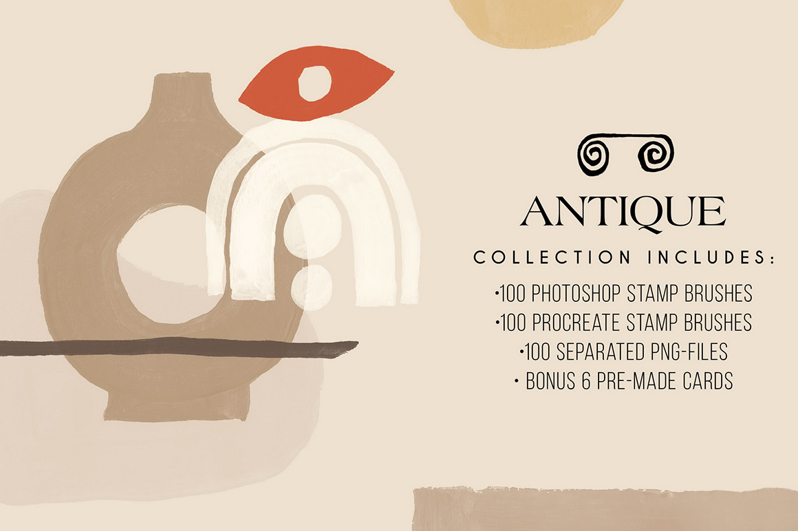 Antique - Photoshop and Procreate Stamp Brushes
