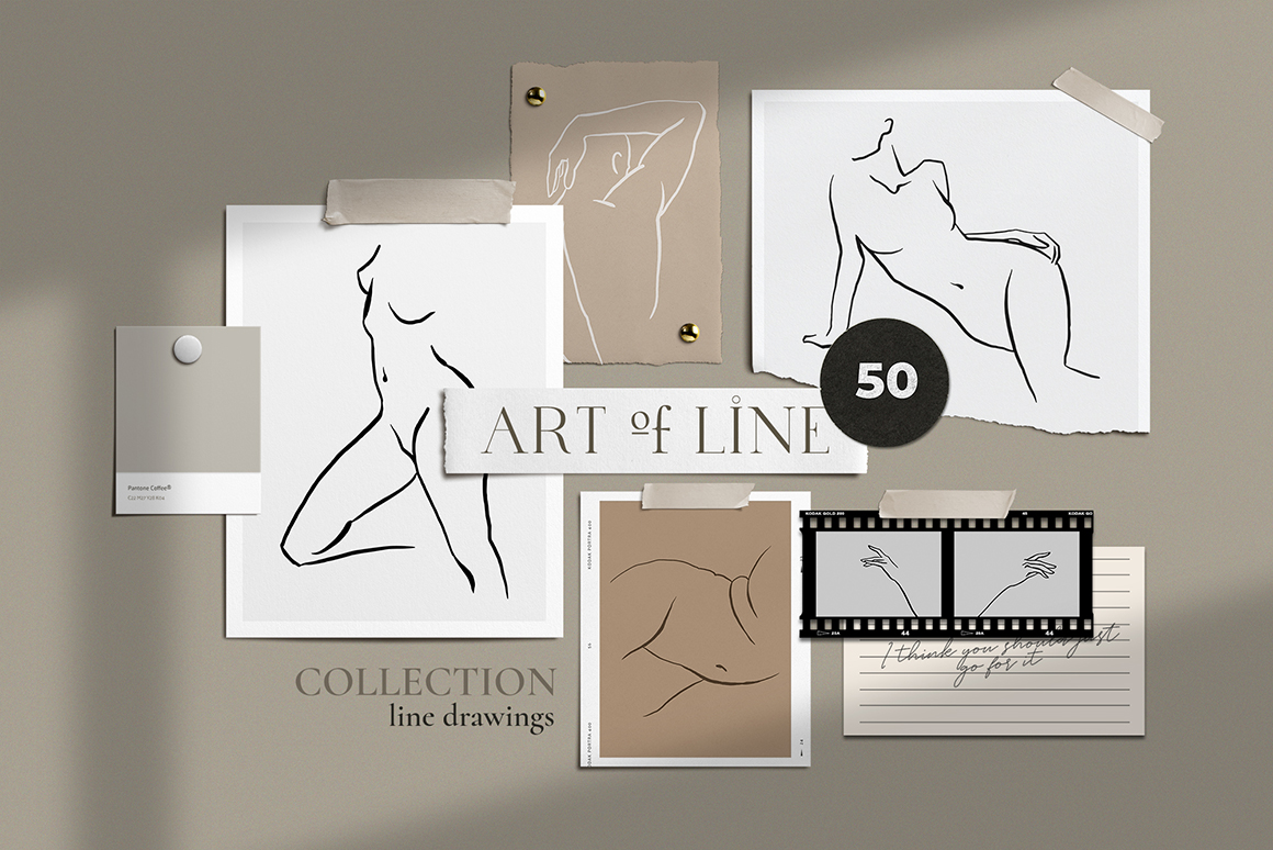 Art of Line People Line Drawings