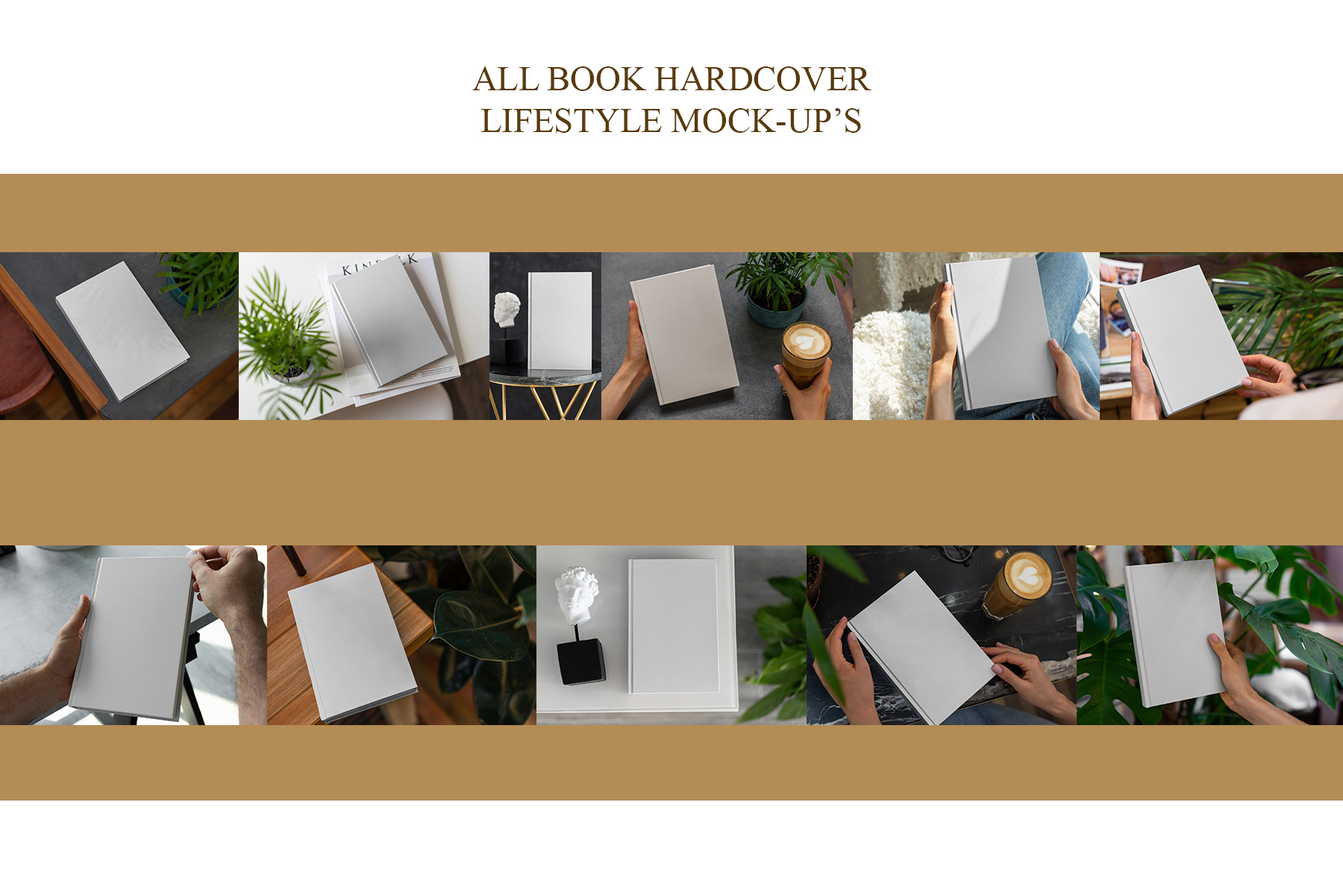 Book Hardcover Lifestyle Mock-Up