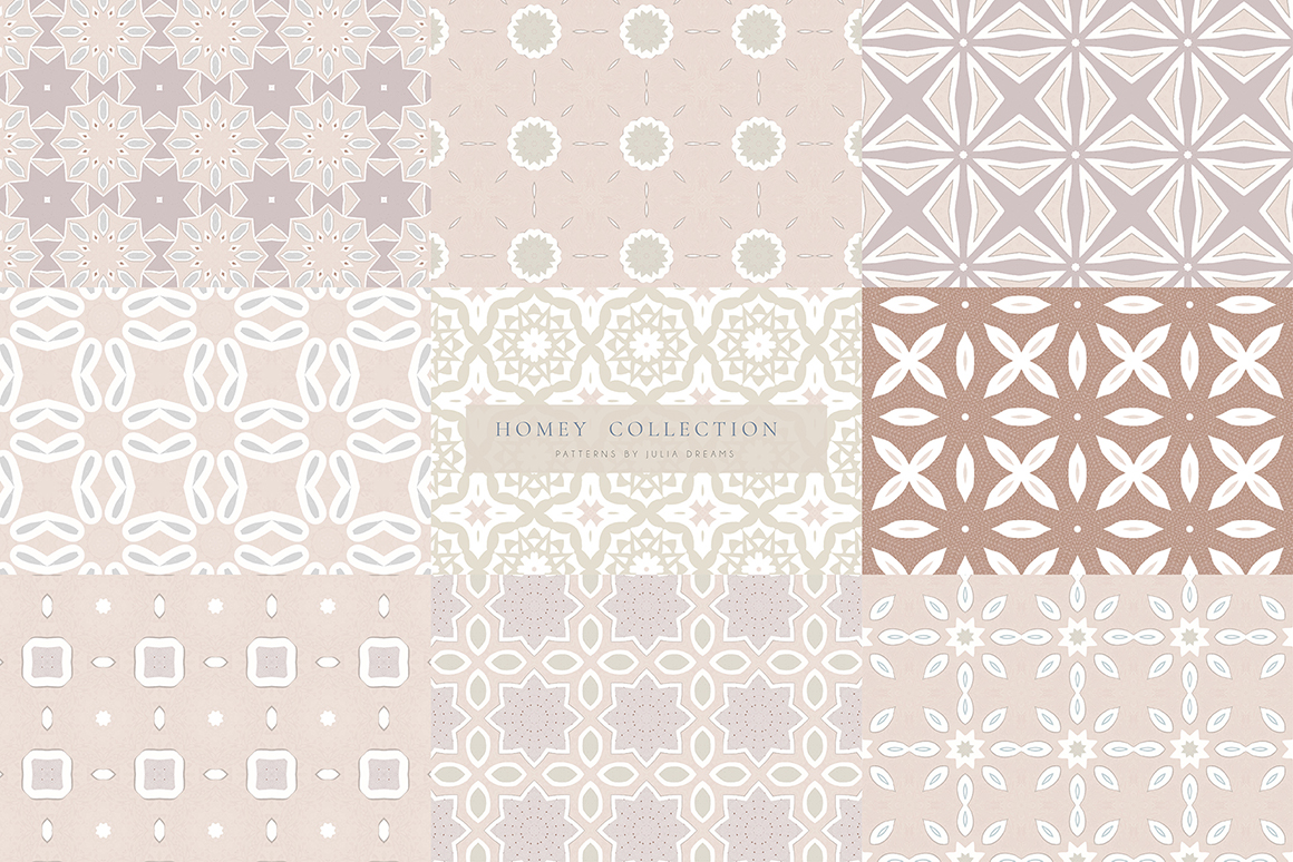 Homey Seamless Patterns Collection