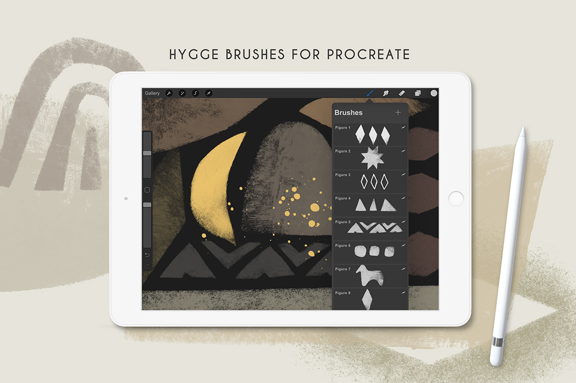 Hygge - Photoshop and Procreate Stamp Brushes