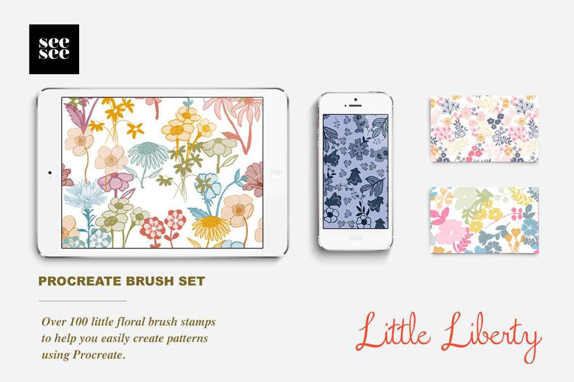 Little Liberty Procreate Floral Brush Set