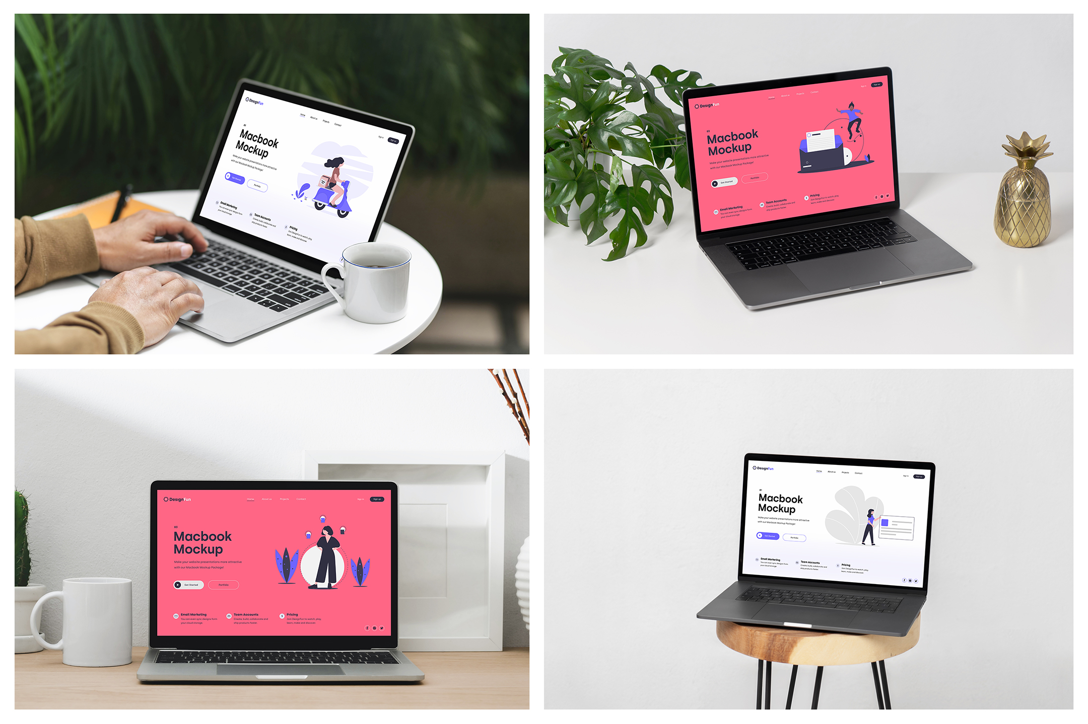 MacBook Mockups - Workspace Mockups