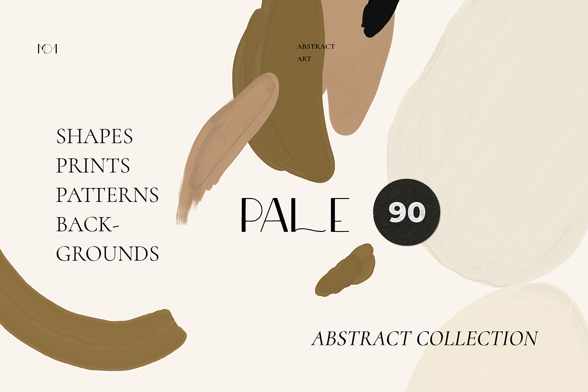 Pale - Modern Neutral Abstract Shapes Collection