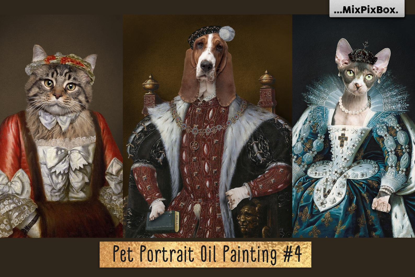 Pet Portrait Oil Background v.4