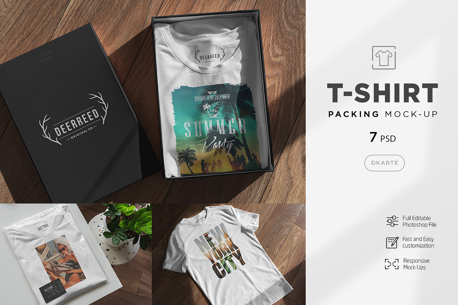 T-Shirt Packing Mock-Up