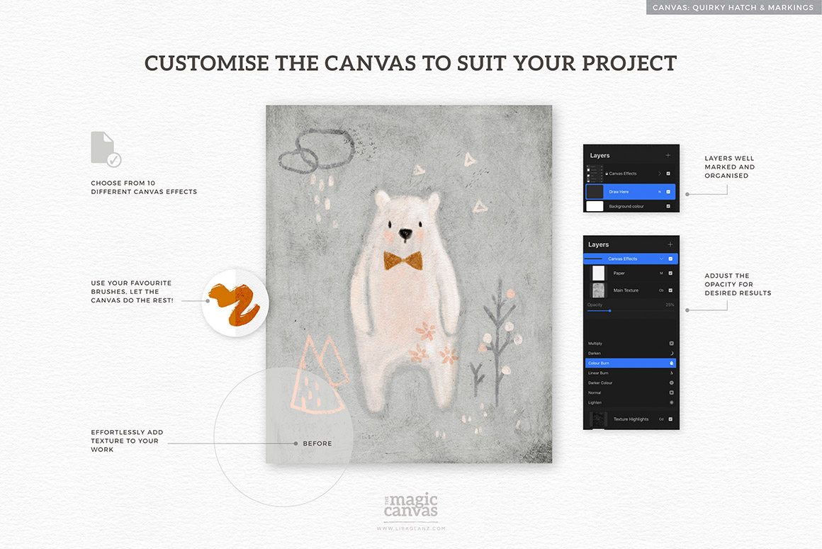 The Magic Canvas for Procreate - Texture Overlays