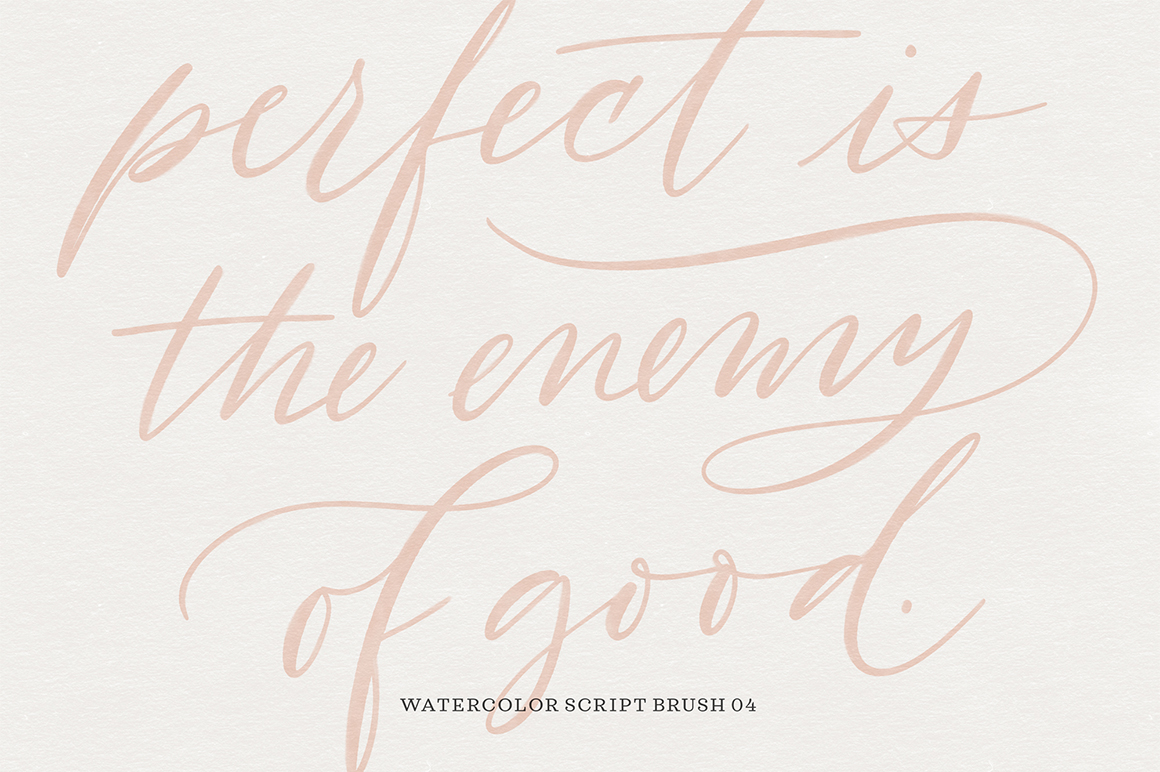 Watercolor Calligraphy Procreate Brush Pack