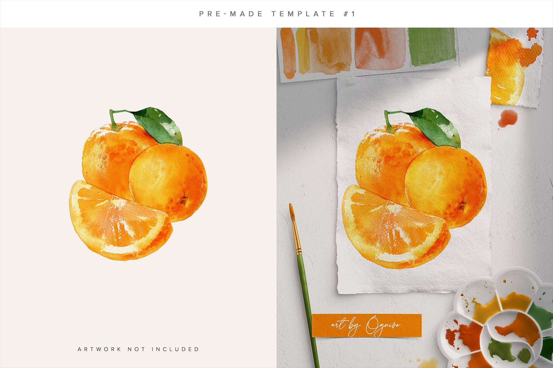 Watercolor Mockup Scene Creator for Photoshop